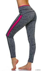 Leggings Gray / Pink