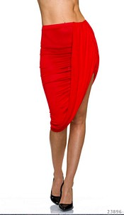 MidiSkirt Red
