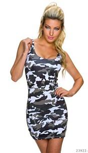 Mini-Dress Camouflage / White