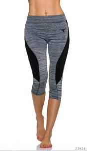 3/4-leggings Gray / Black