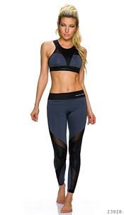 Top + leggings dark Gray / Black