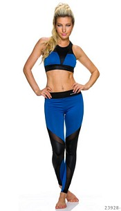 Top + leggings Royalblue / Black