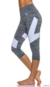 3/4-leggings Gray / White