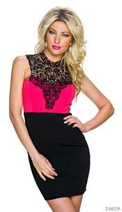 Mini-Dress Salmon / Black