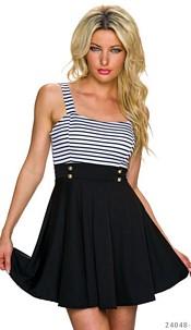 Mini-Dress Black / White