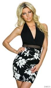 Halter-Mini-Dress Black