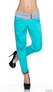 Trousers Turquoise-Green