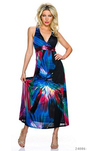 Maxi-Dress Mixed / Dark-Blue