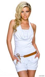 Hotpants-Jumpsuit White