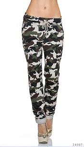 Joggingpants Camouflage / Creme