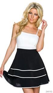 Mini-Jurkje Zwart / Wit