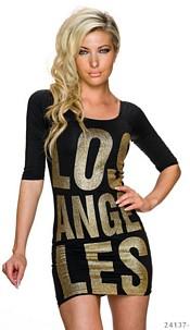 Mini-Dress Black / Gold