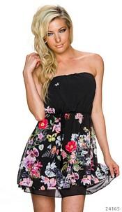 Strapless Mini-Dress Black