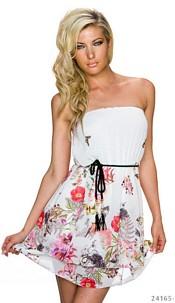 Strapless Mini-Dress White