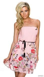 Strapless Mini-Dress Pink
