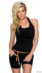 Hotpants-Jumpsuit Black