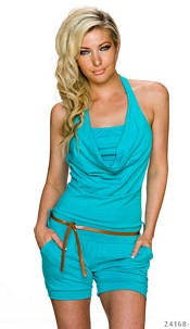 Hotpants-Jumpsuit Turquoise-Green