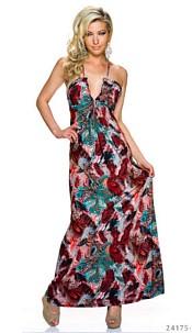 Maxi-Dress Mixed / Wine-Red
