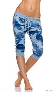 Capri-Pants Camouflage / Baby-Blue