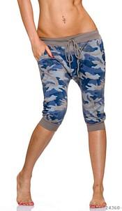 Capri-Pants Camouflage / Beige