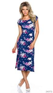 Maxi-Dress Mixed / Dark-Blue