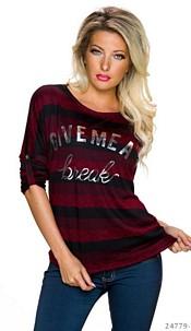 Sweat-Shirt Zwart / Rood