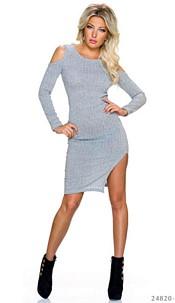 Long-Sleeved-Minidress Gray