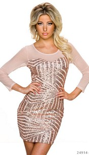 Long-Sleeved-Minidress Frappe