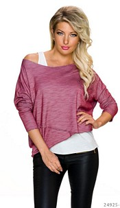 Top + Shirt Wine-Red