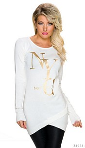 Long-Sleeved-Minidress White