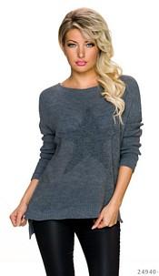 Knitted-Pullover Dark-Gray