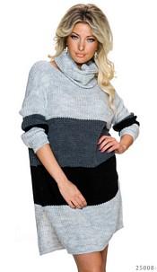 Knitted-Mini-Dress Mixed / Gray