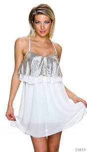 Mini-Dress White / Gold