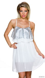 Mini-Dress White / Silver