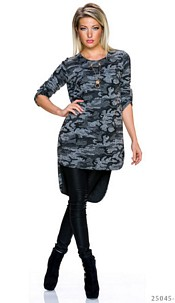 Long-Blouse Camouflage / Gray