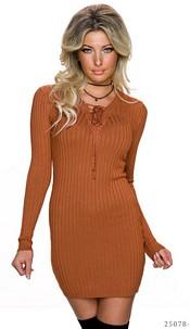Mini-Dress Terracotta