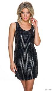 Mini-Dress Black / Silver