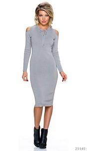 Midi Dress Gray