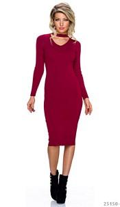 Midi Dress Wine-Red