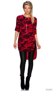 Long-Shirt Camouflage / Rood