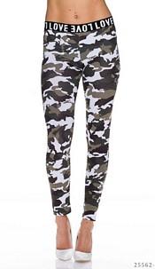 Leggings Camouflage / White