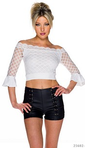 Crop Shirt White