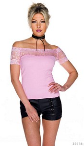 Short-Sleeved-Shirt Pink